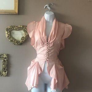 Blush corset Victorian style top